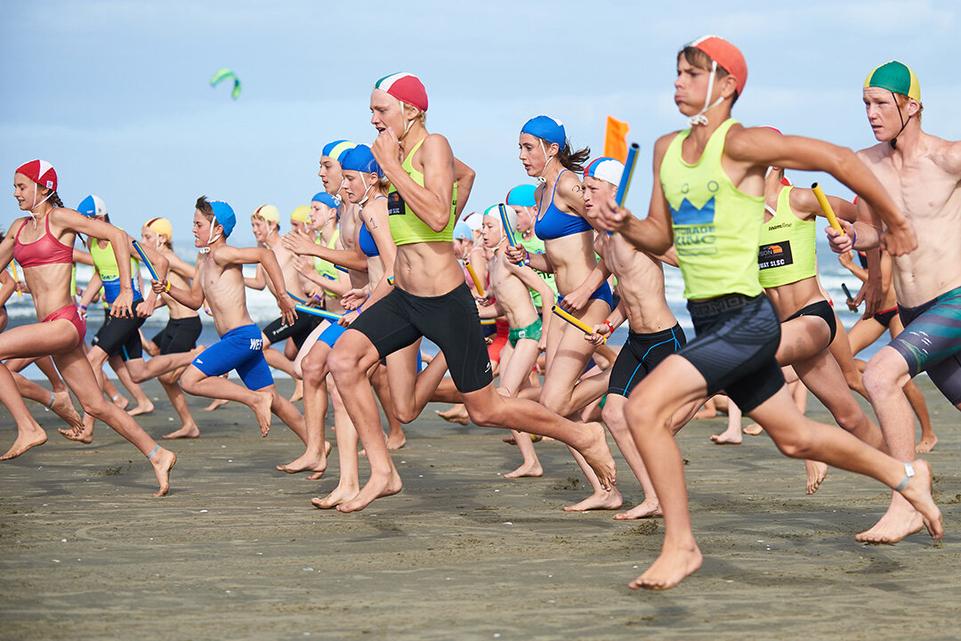 Under 14 New Zealand Surf Life Saving championships (Oceans18) at Orewa Beach. Images by Bex Charteris Photography.