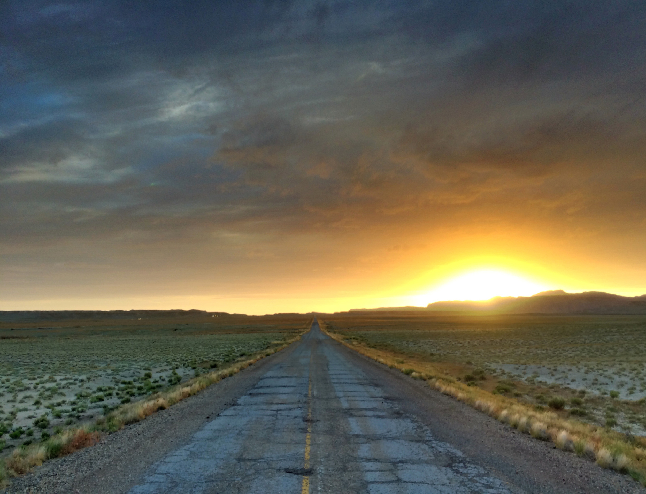 LONESOME HIGHWAY : Taken somewhere in between Colorado and Utah.