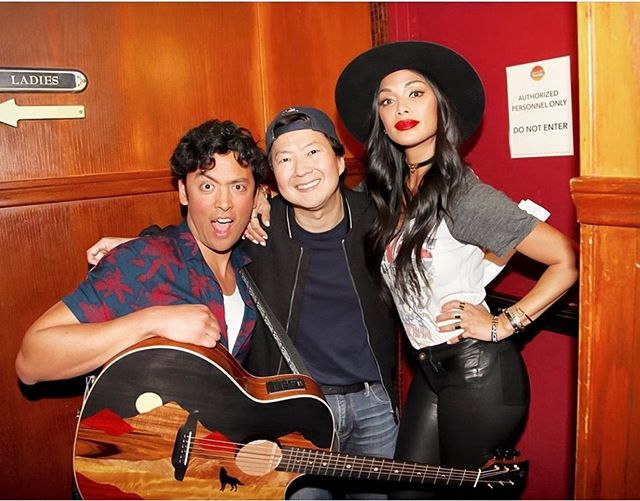 Late to post but the laughs are still fresh 😂  Performing a parody we wrote together a couple hours before the show — love these 2 😄@nicolescherzinger @kenjeong