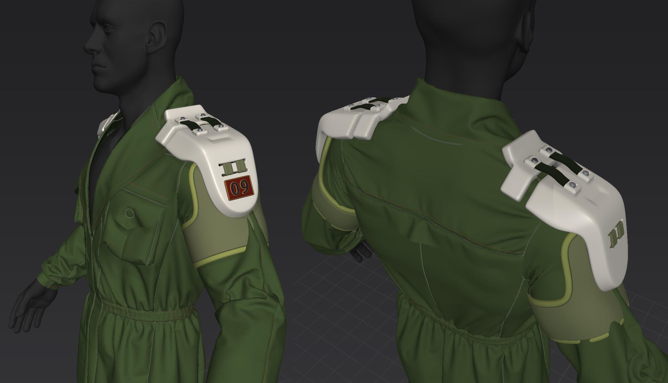 Shoulder pad experiments.