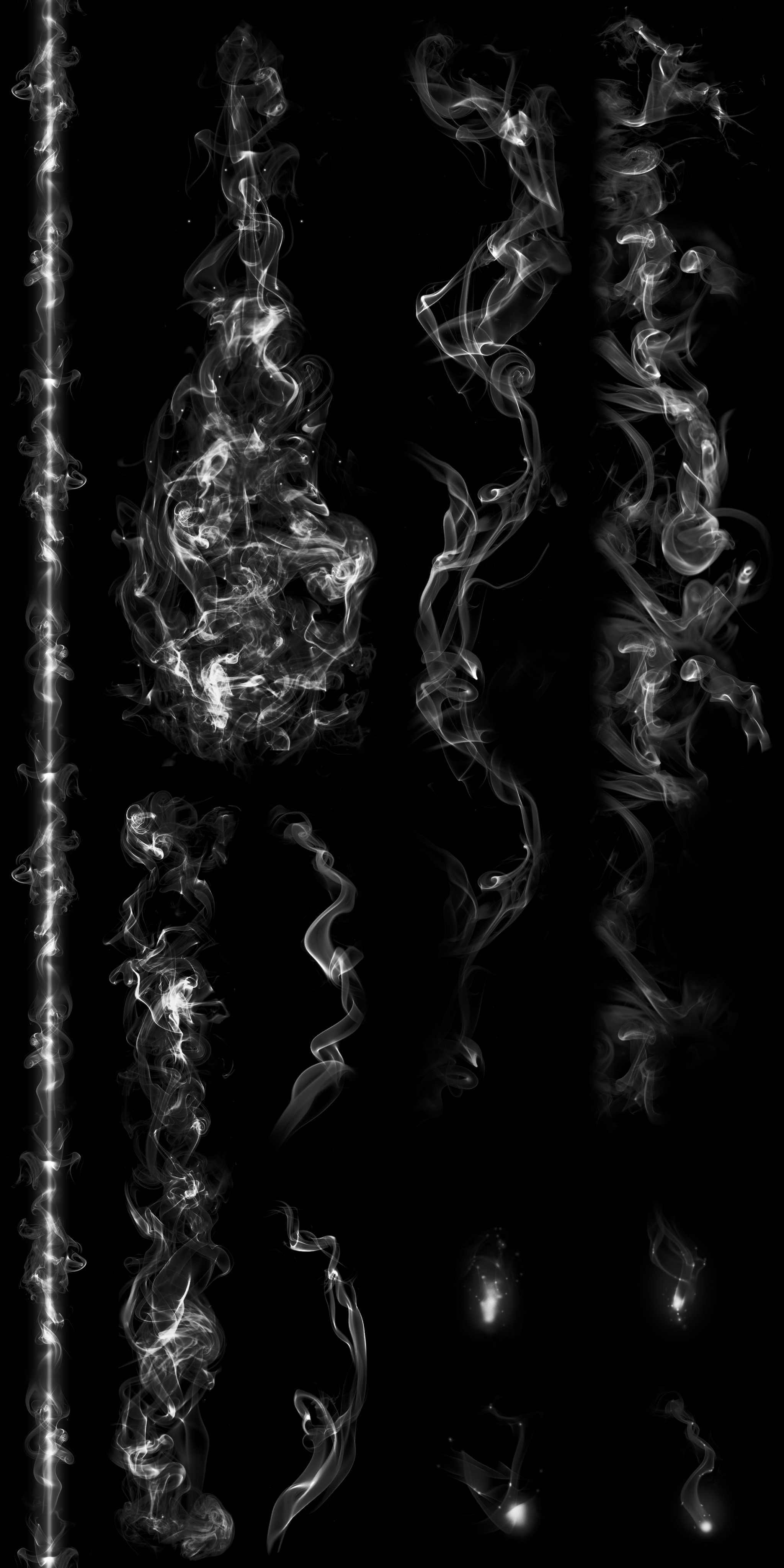 Texture map for the glowing elements of the staff