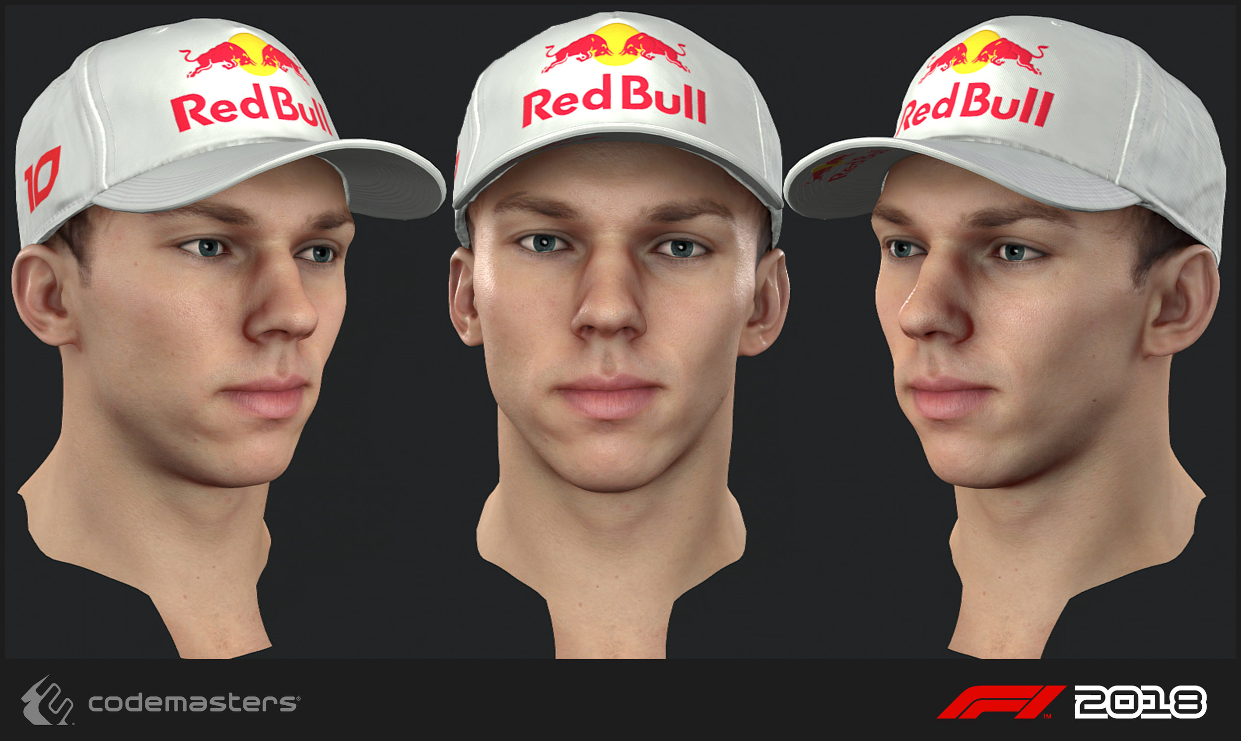Pierre Gasly. Responsibilities: Scanning the driver, high poly creation, texture creation for the head.