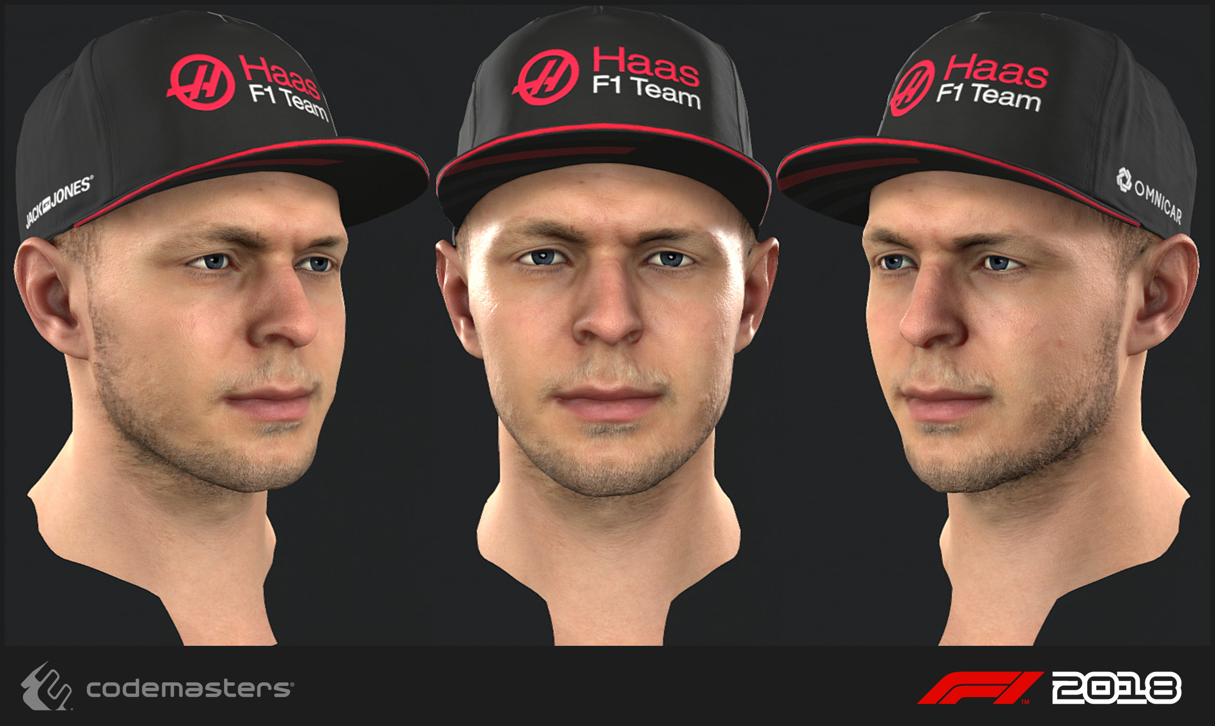Kevin Magnussen. Responsibilities: high poly creation, texture creation for the head. My lead Mark Hancock was responsible for a 2018 update pass on the mesh and textures.