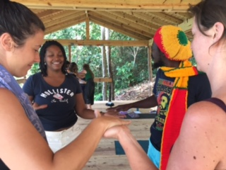 from our Yin and Justice offering in Jamaica in March. Staying connected, feeling in and making change. Yoga in Action!