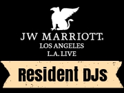 We DJ at the Marriott's rooftop pool overlooking L.A. Live every Saturday during the summer from 12:00pm-4:00pm (paid entry).