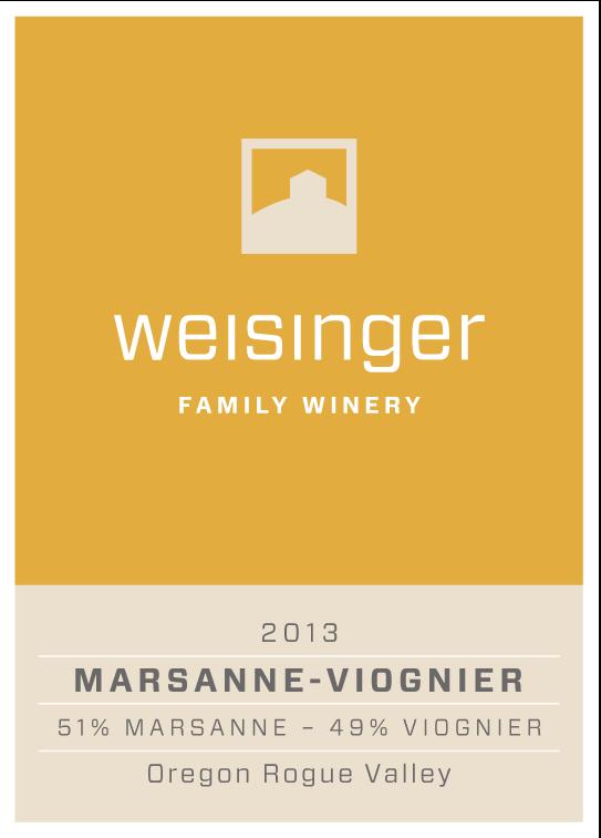 2013 Weisinger Marsanne-Viognier, Oregon wine