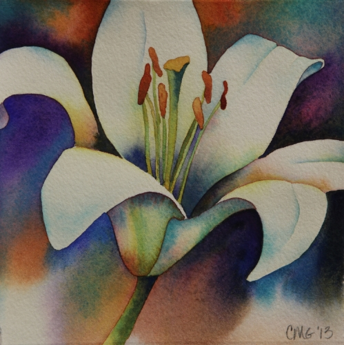 White Day Lily Solo