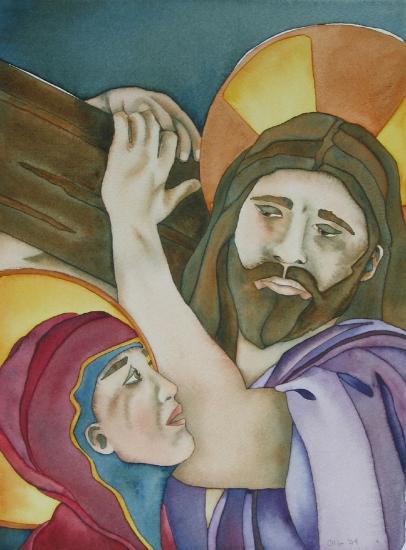 Jesus Meets His Afflicted Mother