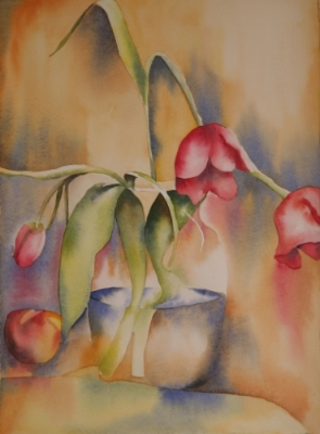 One of my still life paintings from Satoko's classes - 2009