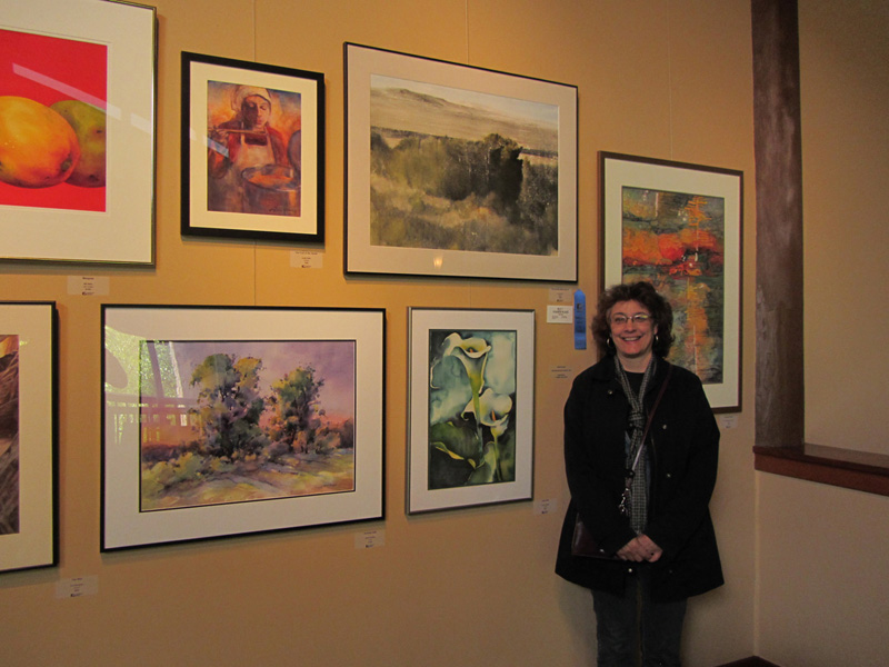"The artist with ""Calla Duet"" exhibited in the Fall WSO show - 2011"