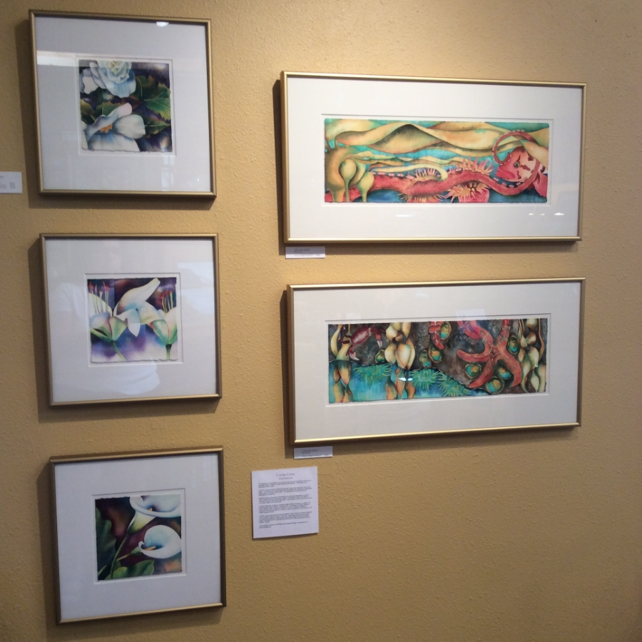 My work at 4th Street Studio & Gallery in Manzanita, Oregon