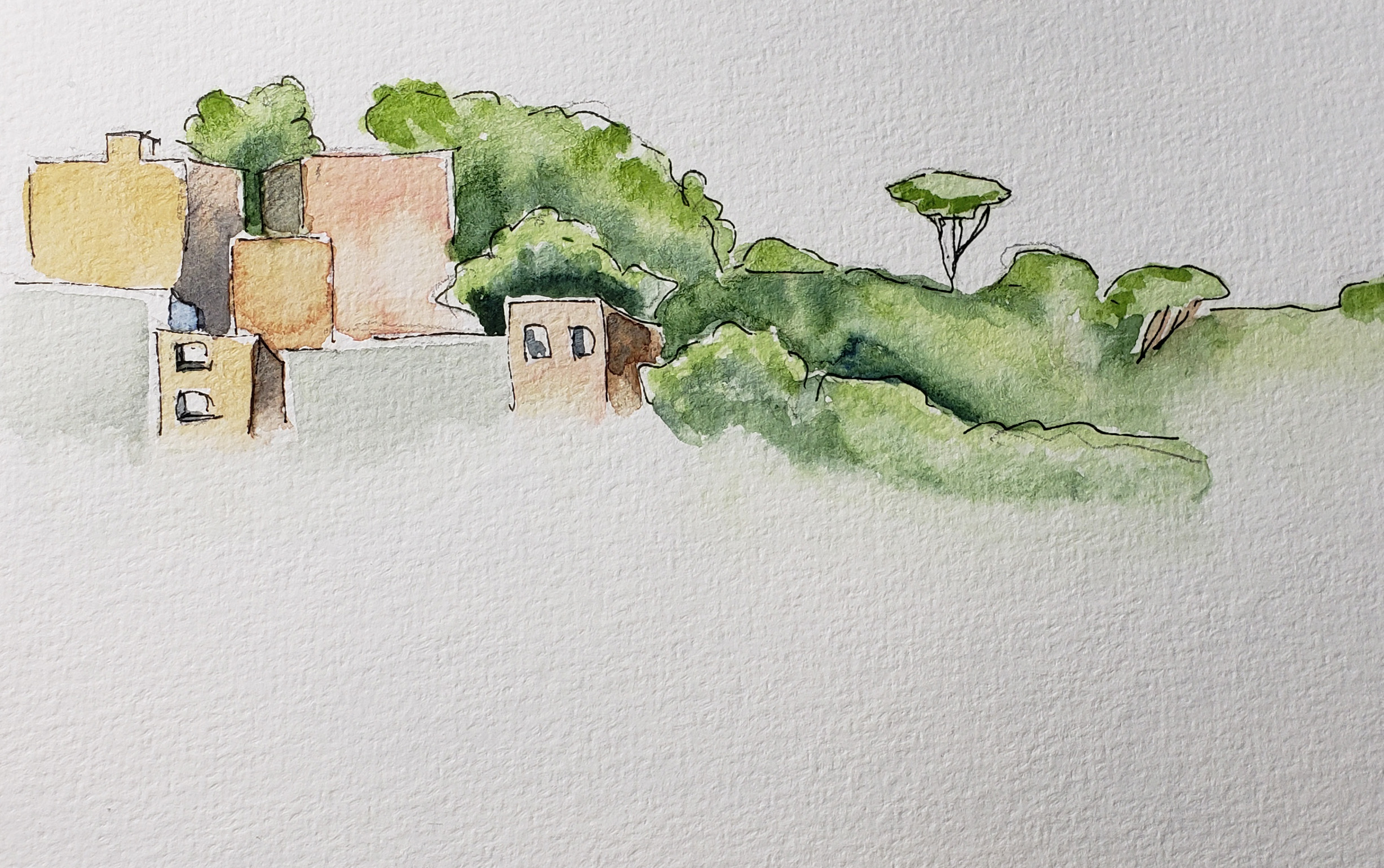 Capri Hillside from my Sketchbook