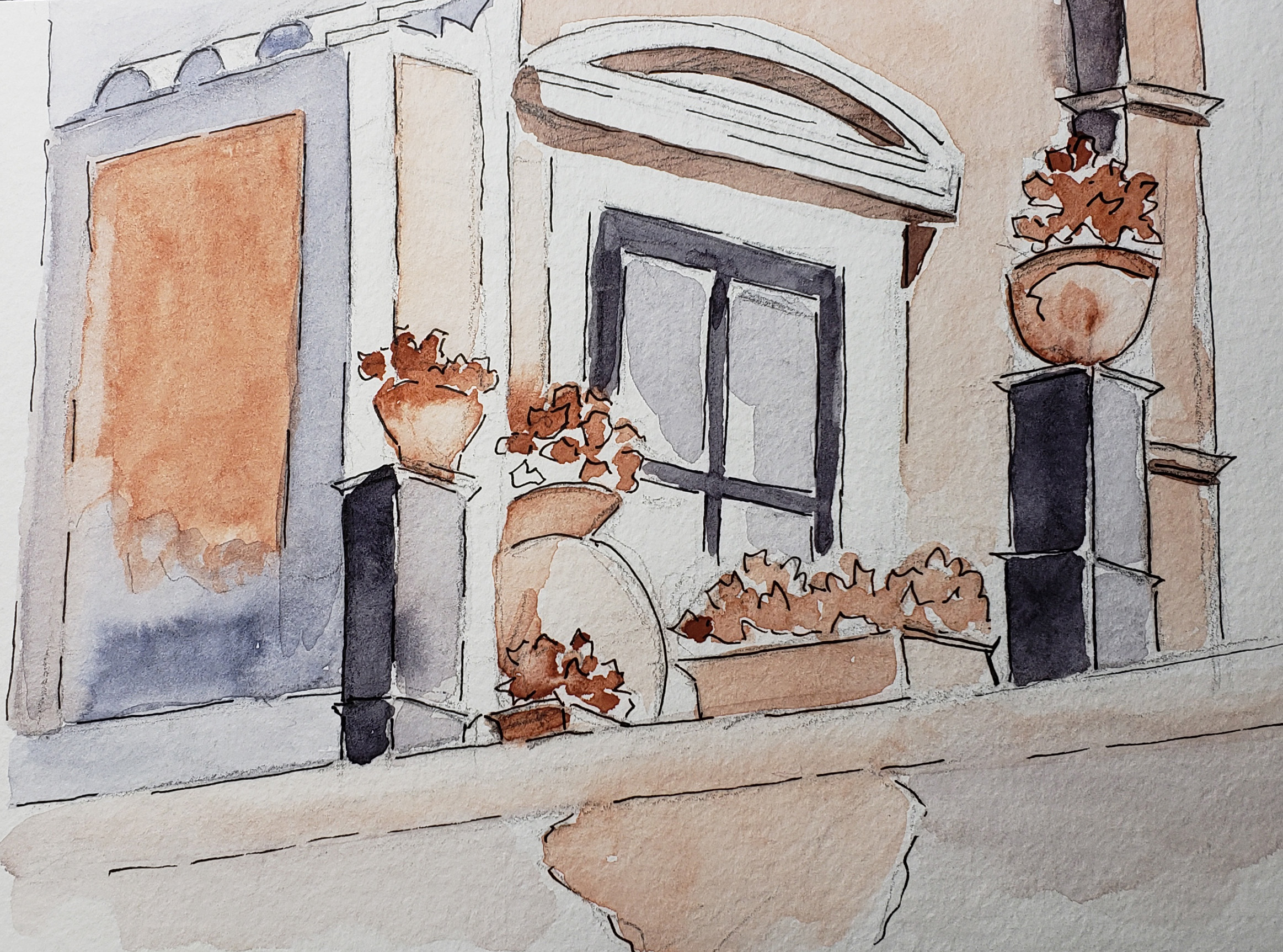 Ravello Balcony from my Sketchbook