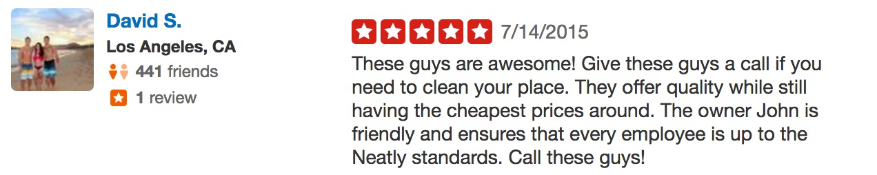 David S. Neatly Cleaning yelp review 5 stars good enough quality.jpg