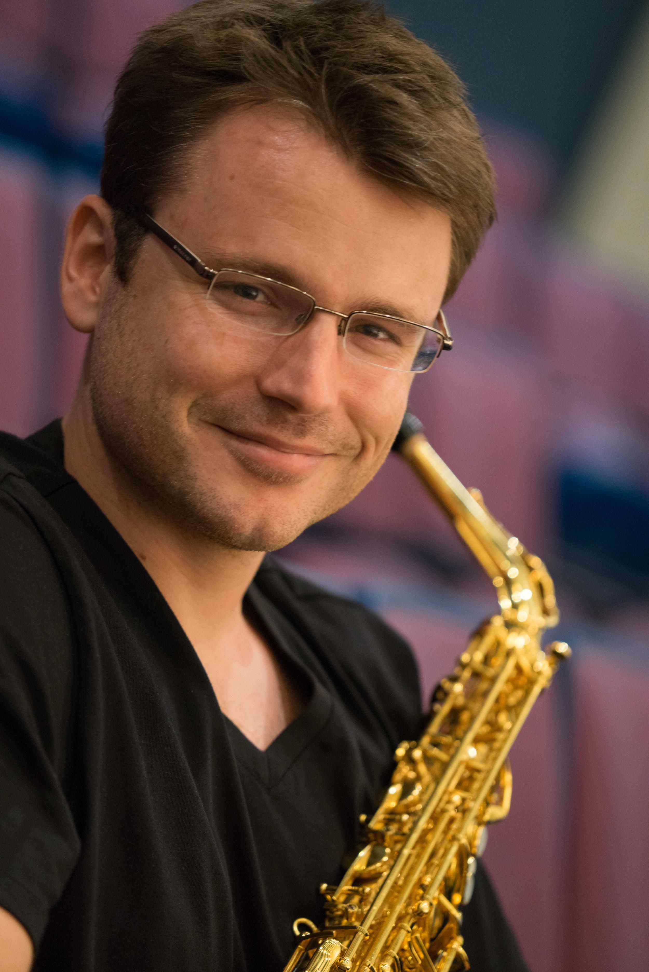 Saxophonist Nathan Nabb