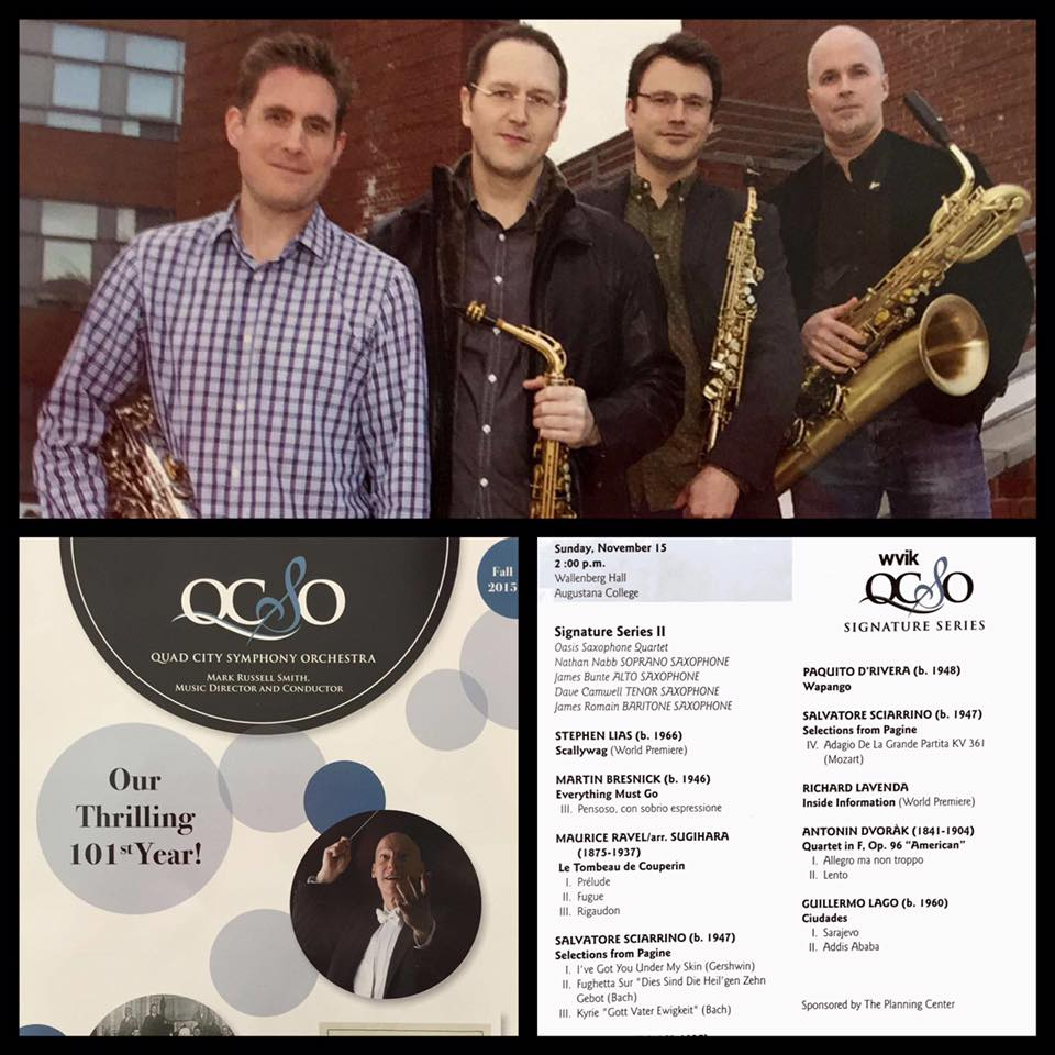 The Oasis Quartet (L to R - Dave Camwell, James Bunte, Nathan Nabb, Jim Romain)