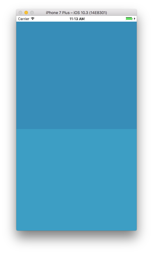 Programmatically specified color (top), vs IB specified color (bottom)