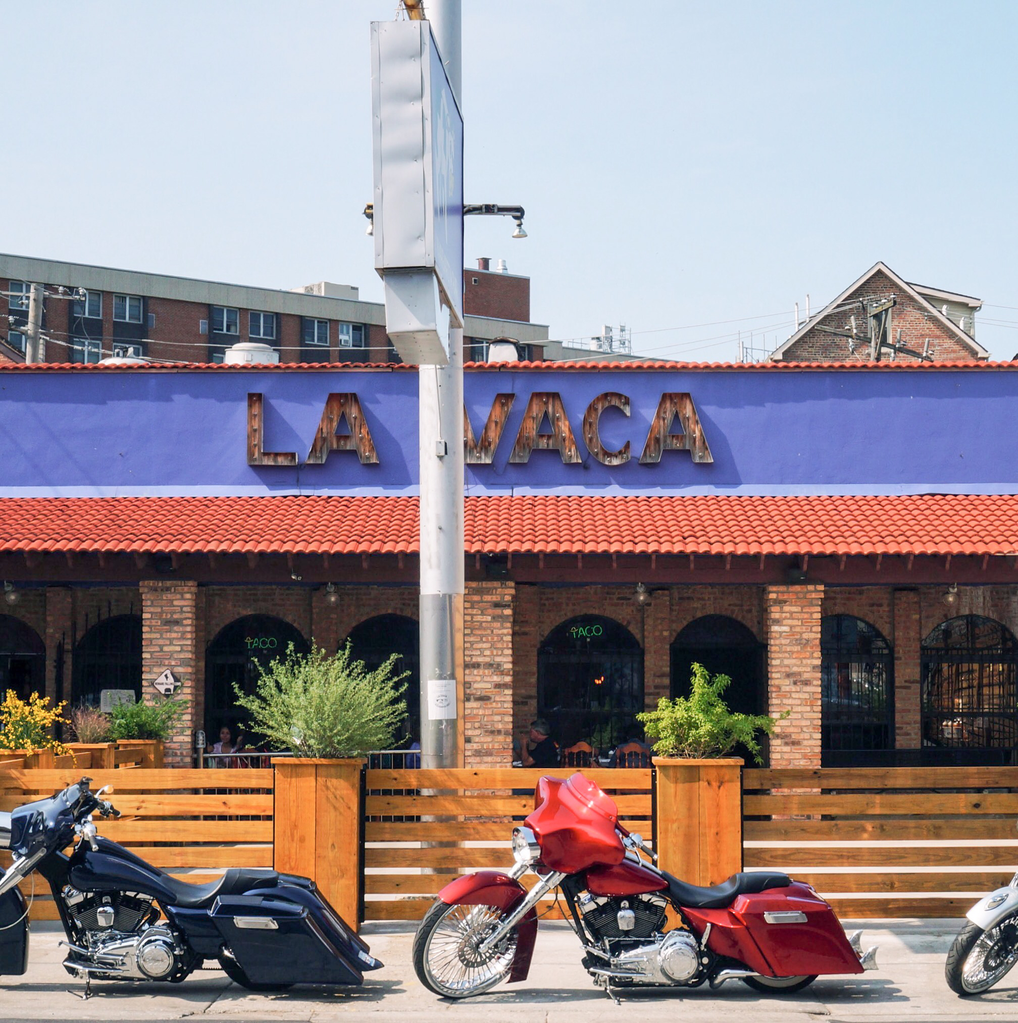 """La Vaca on 18th Street. (Try the """"El Green"""" tacos with fried avocado)."""