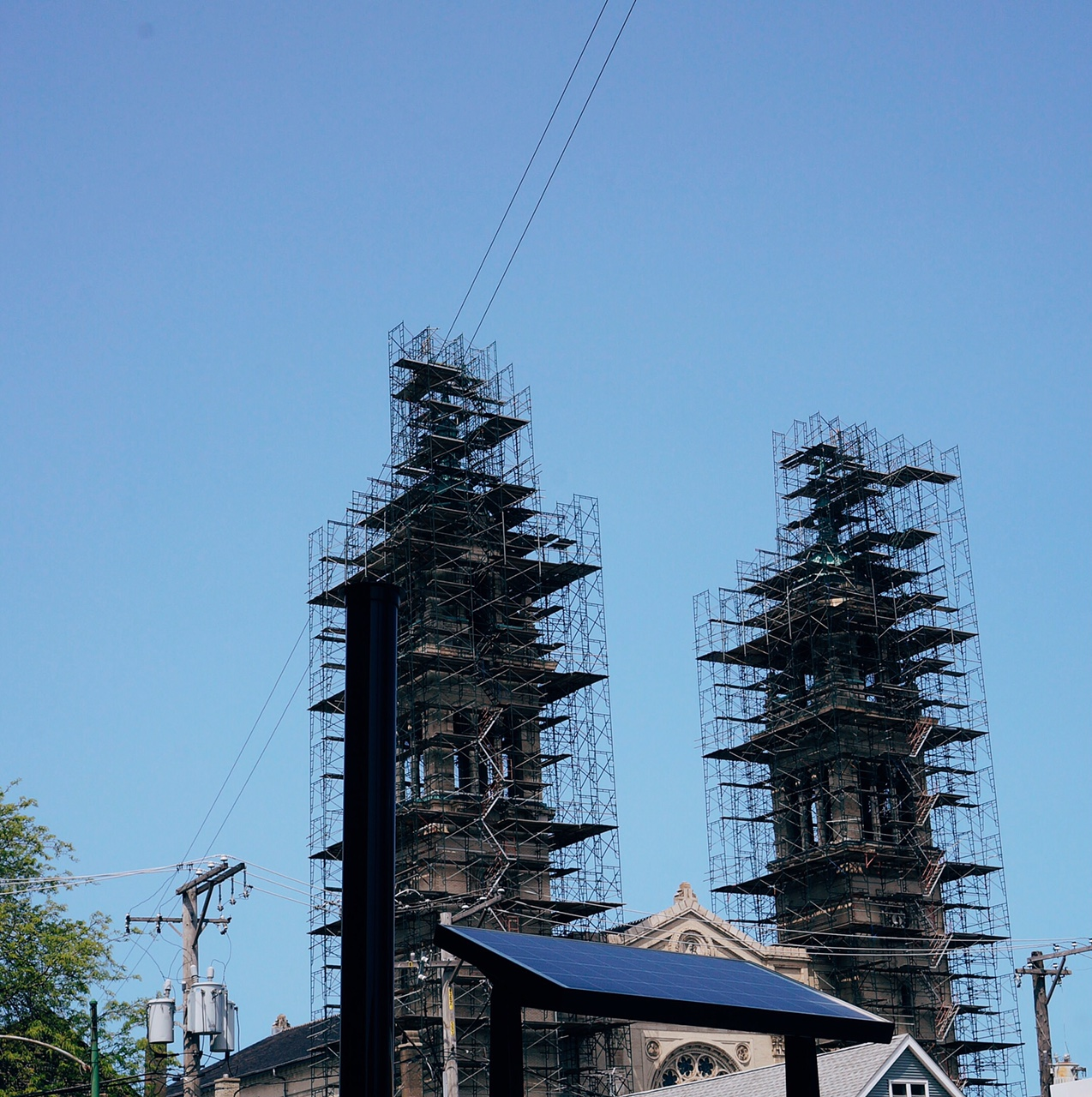 Church under construction. View from 18th and Ashland.