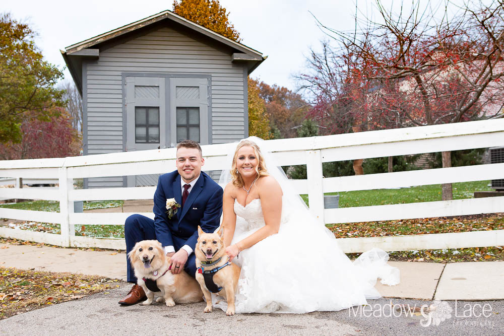 The whole family came out for the wedding. Even Moose and Ruby got to join in for a little bit of the day thanks to Sarah's mom.