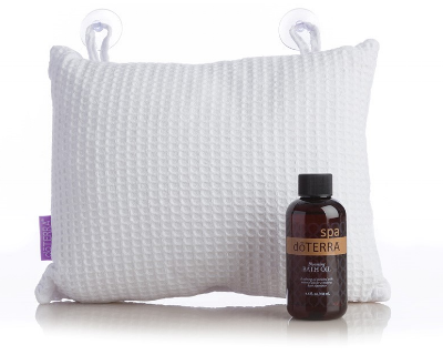 Blooming Bath Oil and Pillow  (item #60200061)  Includes bath pillow and Bath oil of Douglas Fir and Grapefruit  Wholesale: $26.00 US Retail: $34.67 US