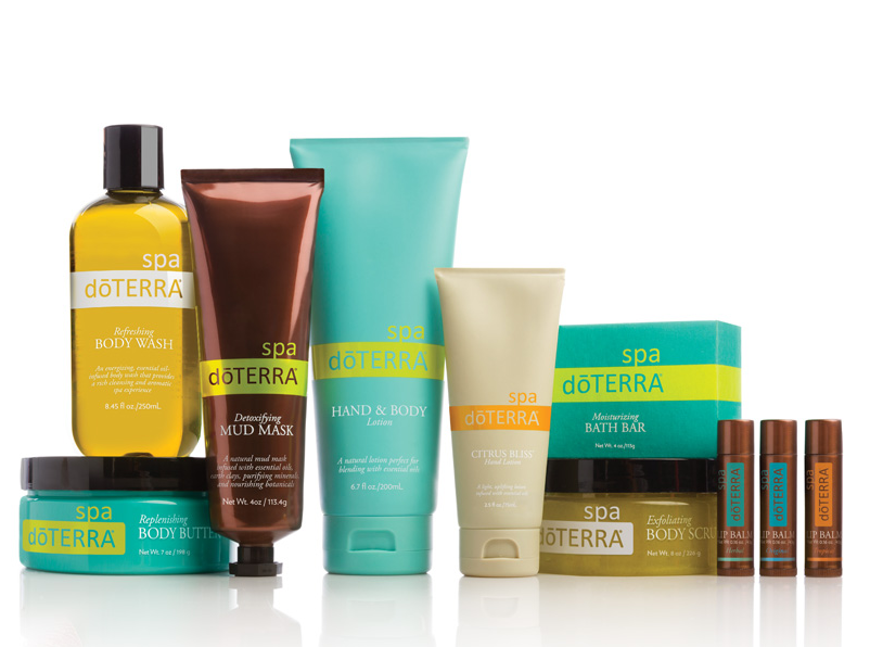 Total doTERRA Spa Kit  (item  #60200501)  Includes Refreshing Body Wash, Detoxifying Mud Mask, Replenishing Body Butter, Citrus Bliss Hand Lotion, Exfoliating Body Scrub, Tropical Lip Balm and MORE!  Wholesale: $94.25 Retail: $125.67