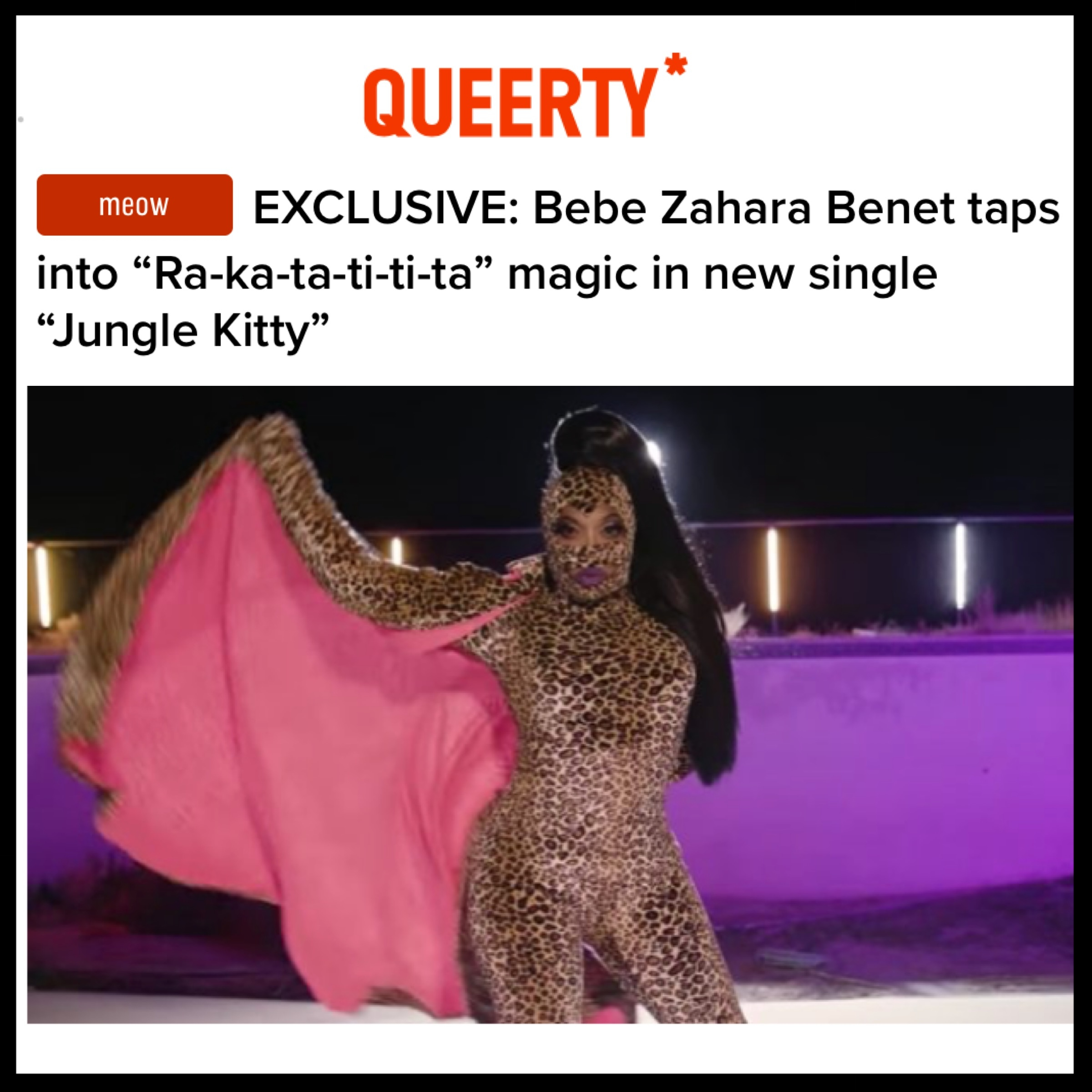 QUEERTY - BEBE ZAHARA BENET (JUNGLE KITTY)