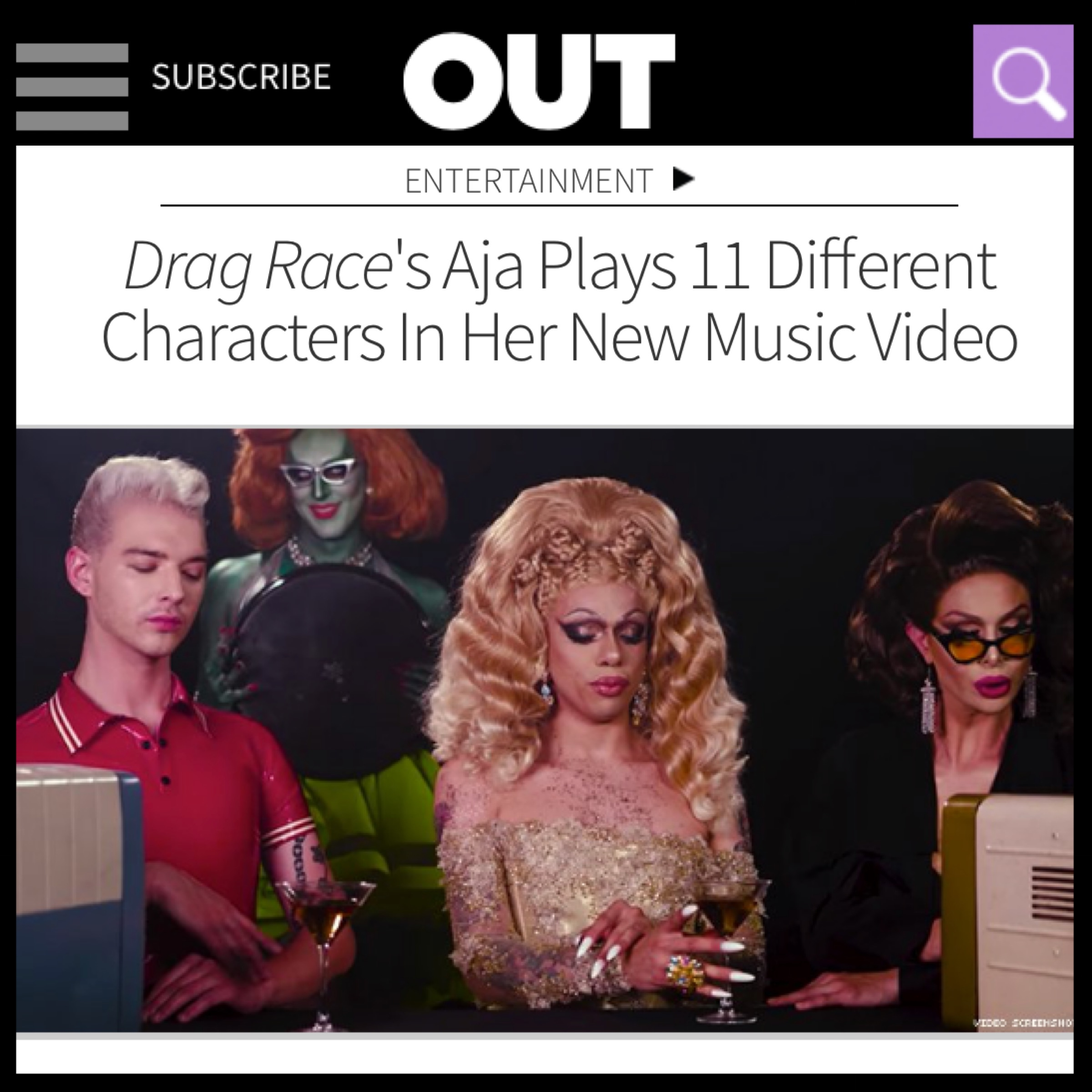 OUT MAGAZINE - AJA (I DONT WANNA BRAG)