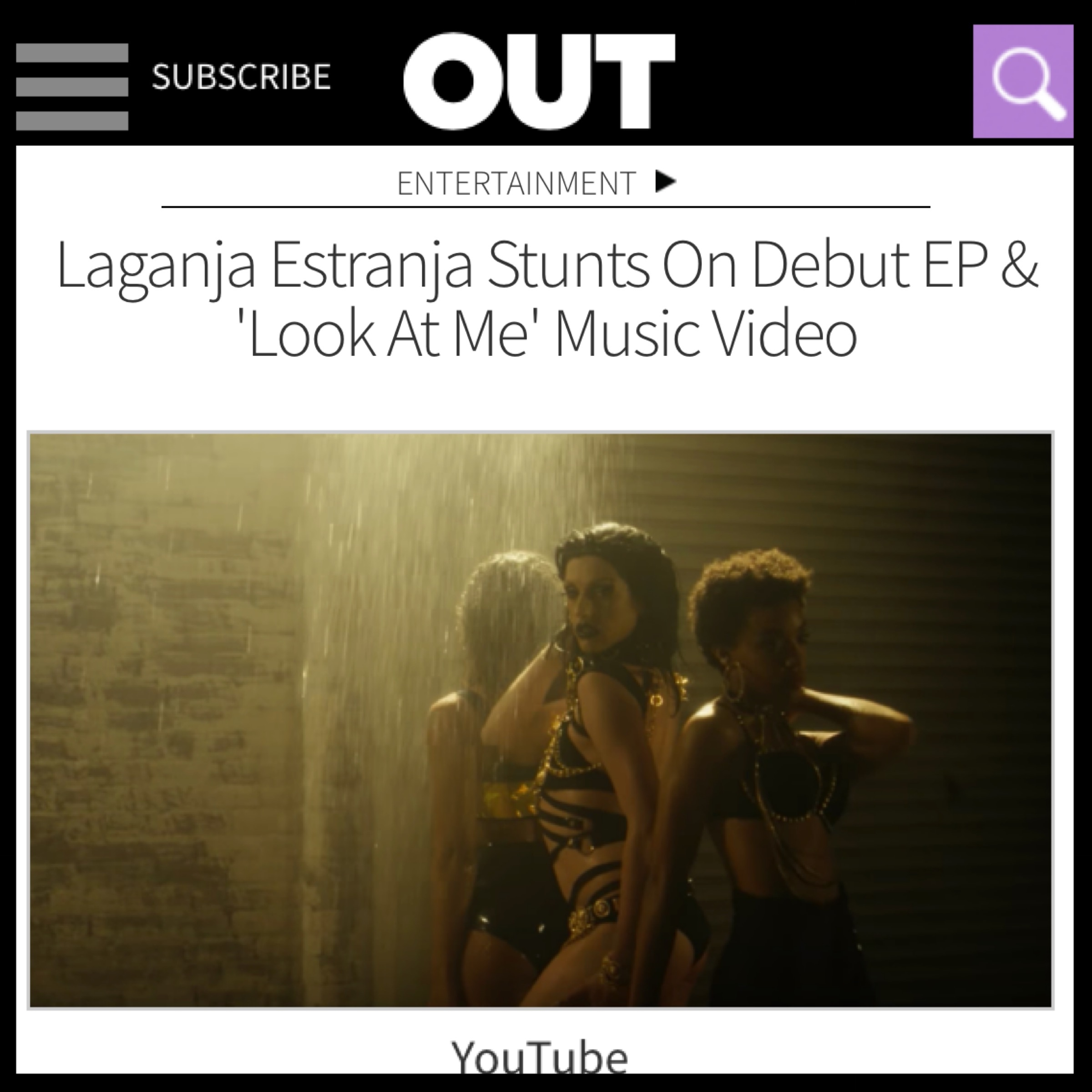 OUT MAGAZINE - LAGANJA ESTRANJA (LOOK AT ME)