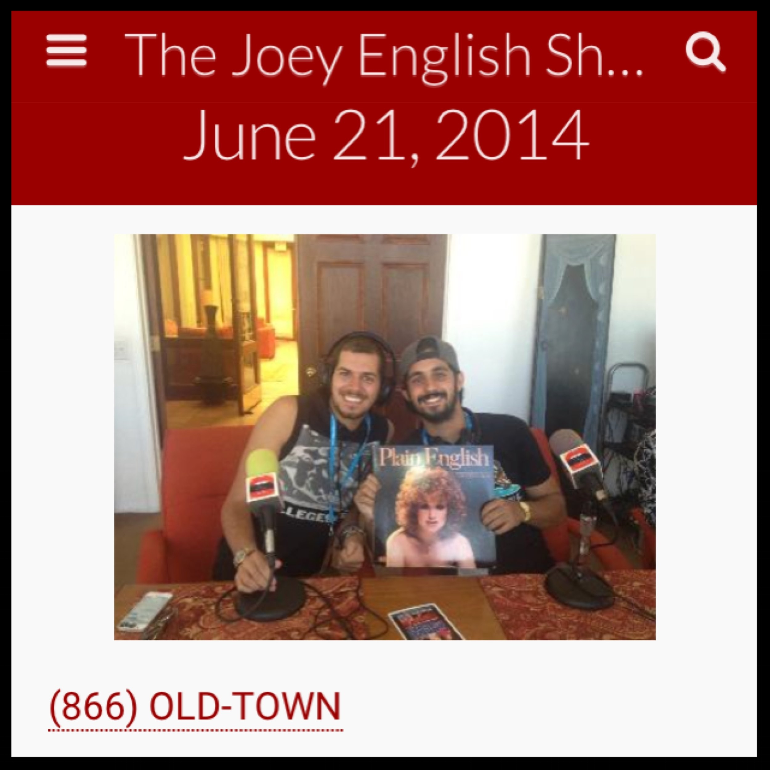 JOEY ENGLISH RADIO - ASSAAD YACOUB
