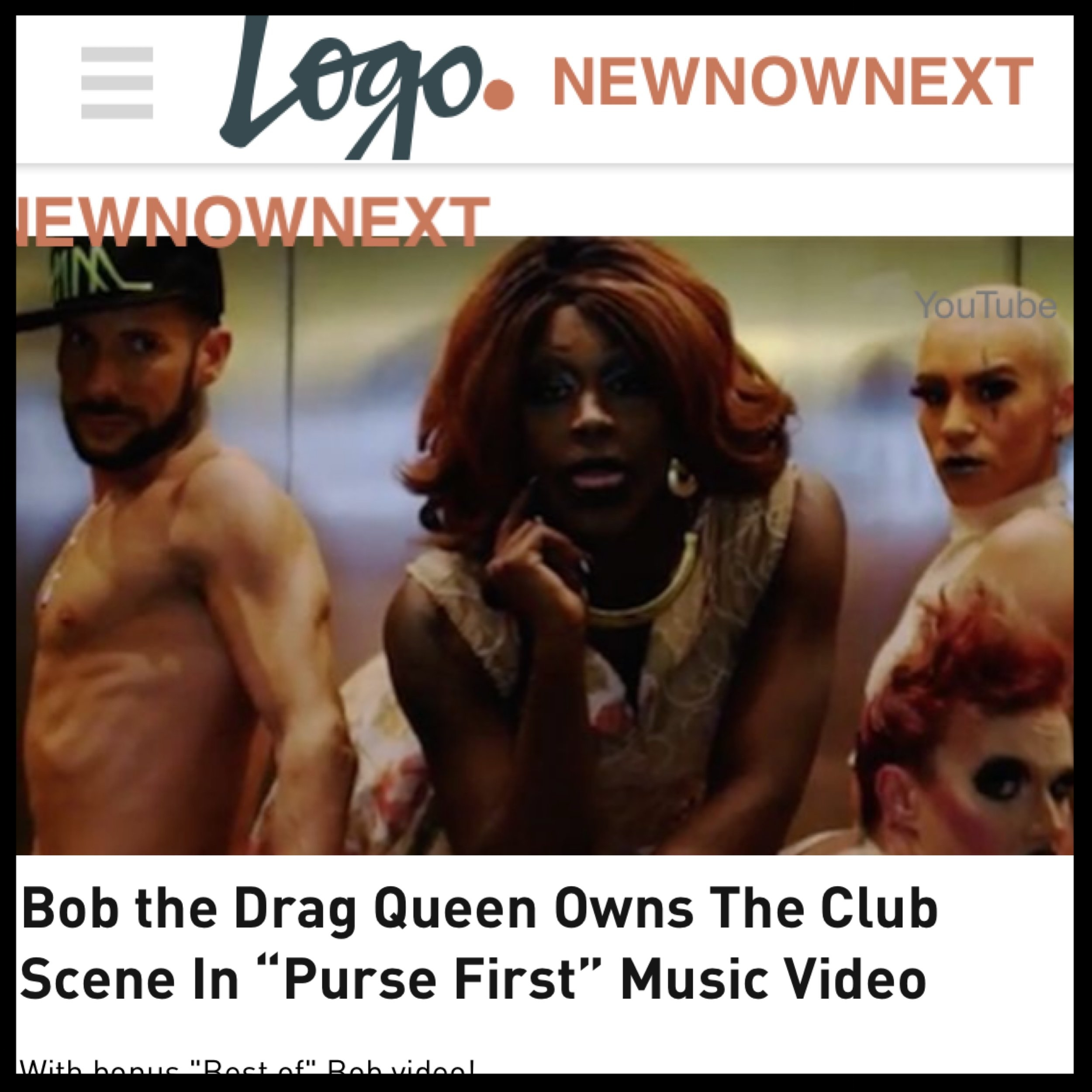 LOGO - BOB THE DRAG QUEEN (PURSE FIRST)