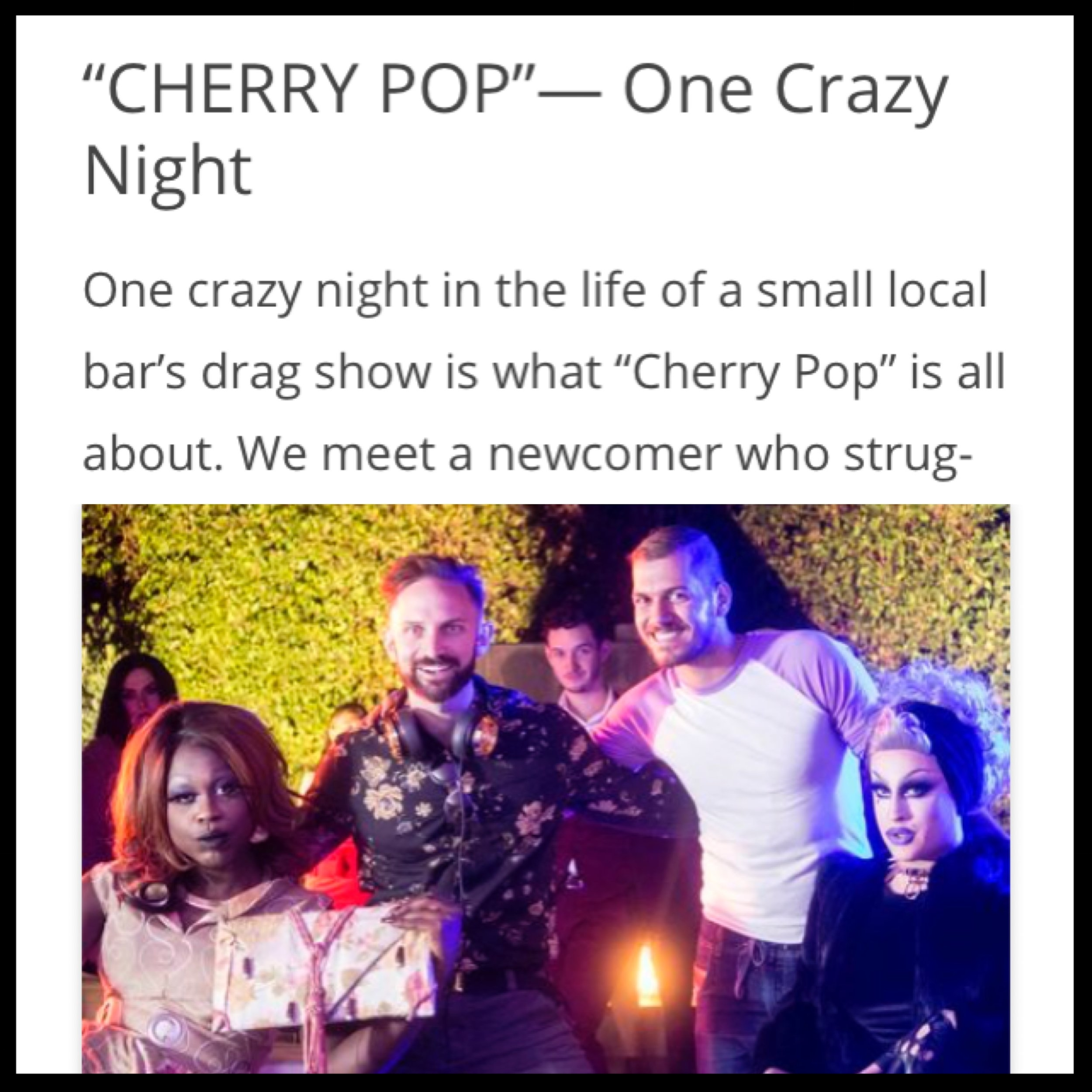 CHERRY POP REVIEW