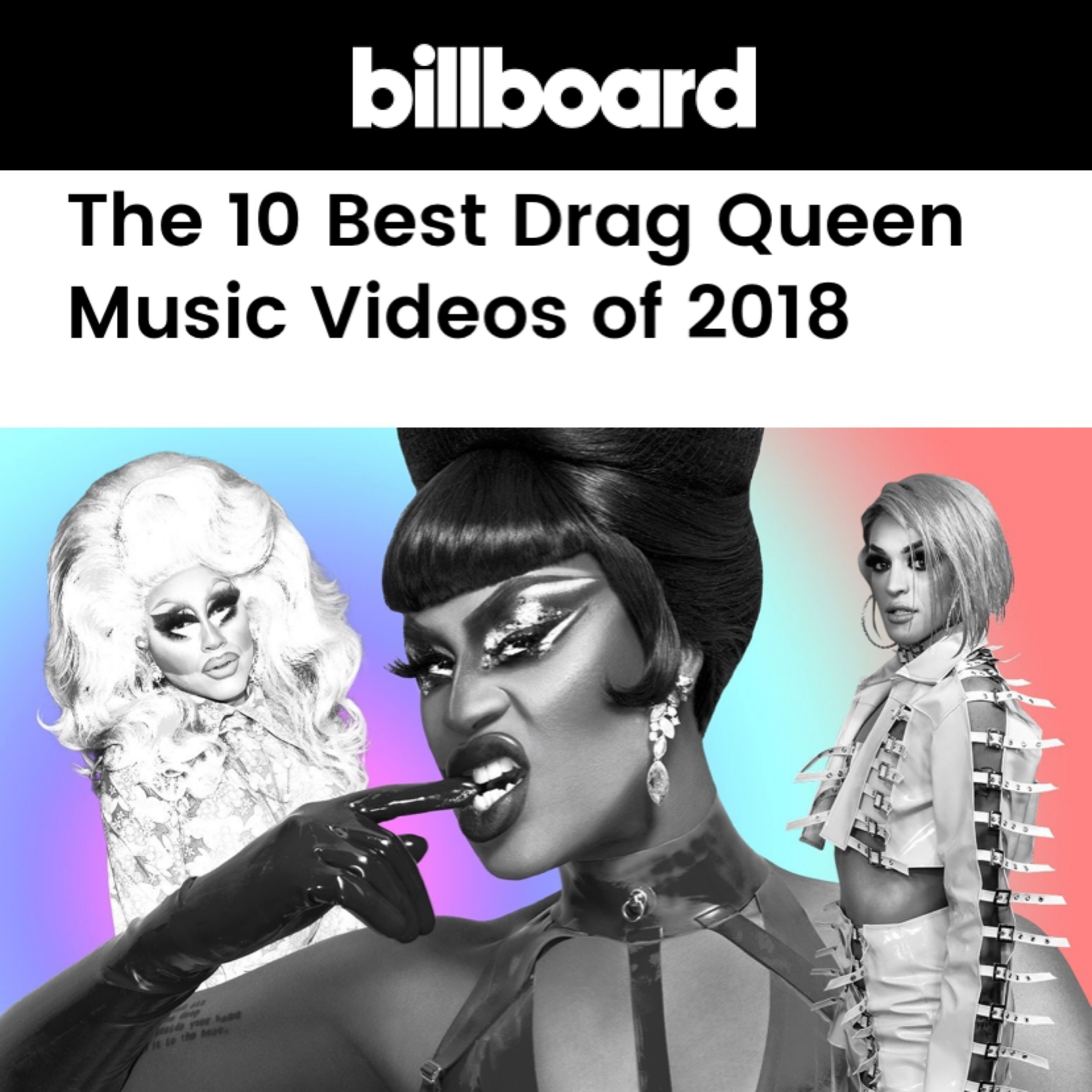 BILLBOARD - TOP 10 DRAG VIDEOS OF 2018