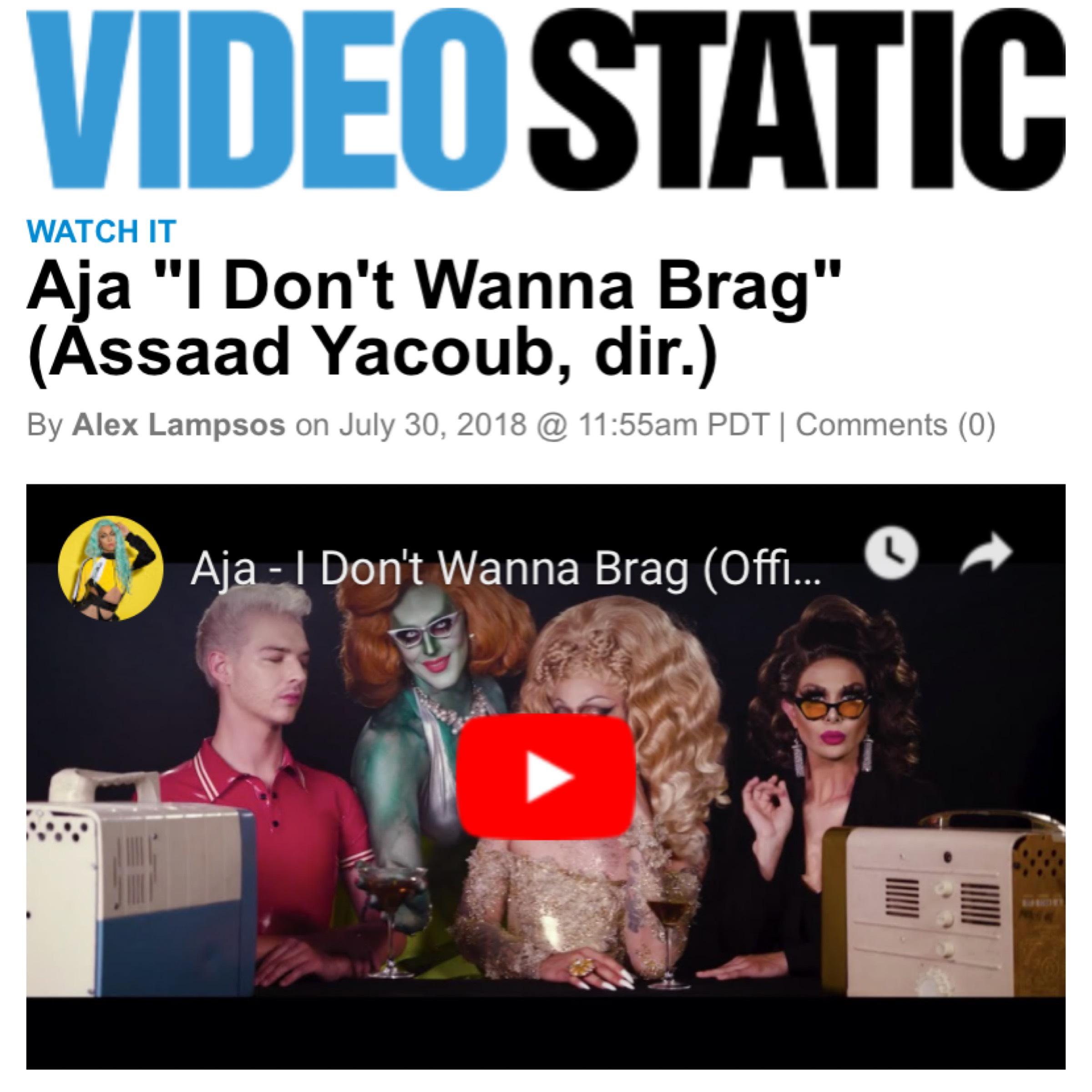 VIDEO STATIC - AJA ( I DONT WANNA BRAG)