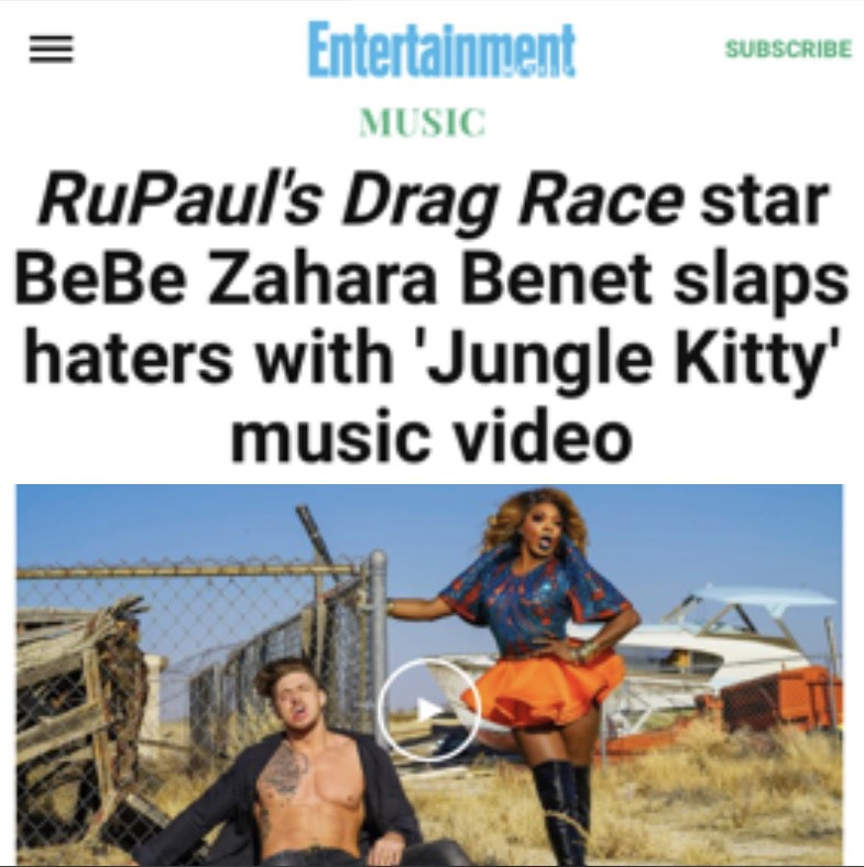 ENTERTAINMENT WEEKLY - BEBE ZAHARA BENET ( JUNGLE KITTY)