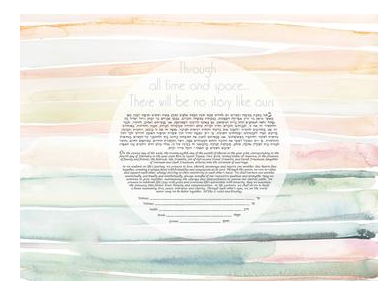 No Story Like Ours Ketubah by Artist Shell Rummel