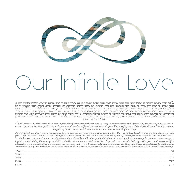 Our Infinite Love Ketubah by Artist Shell Rummel