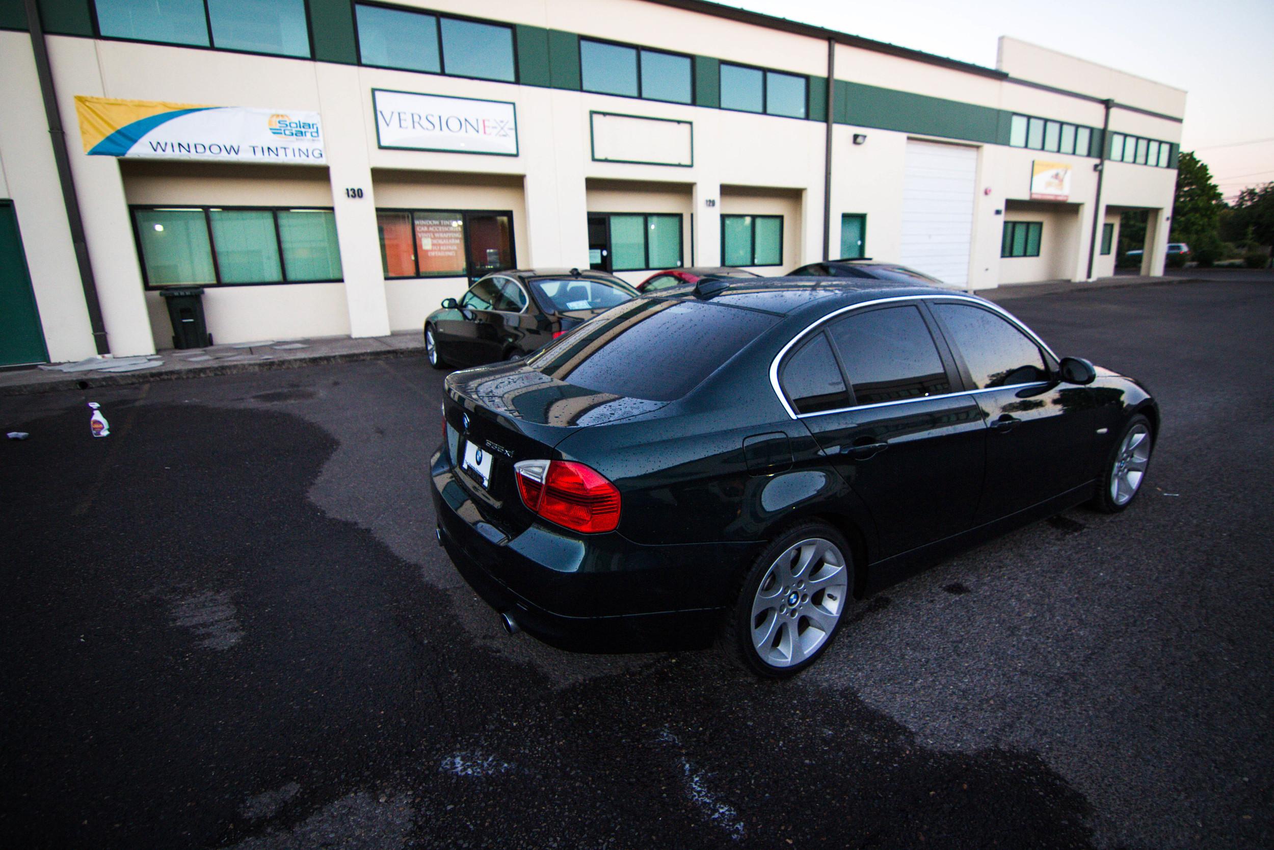 BMW Solar Guarded up!  Window Tint: 30% FR // 15% R