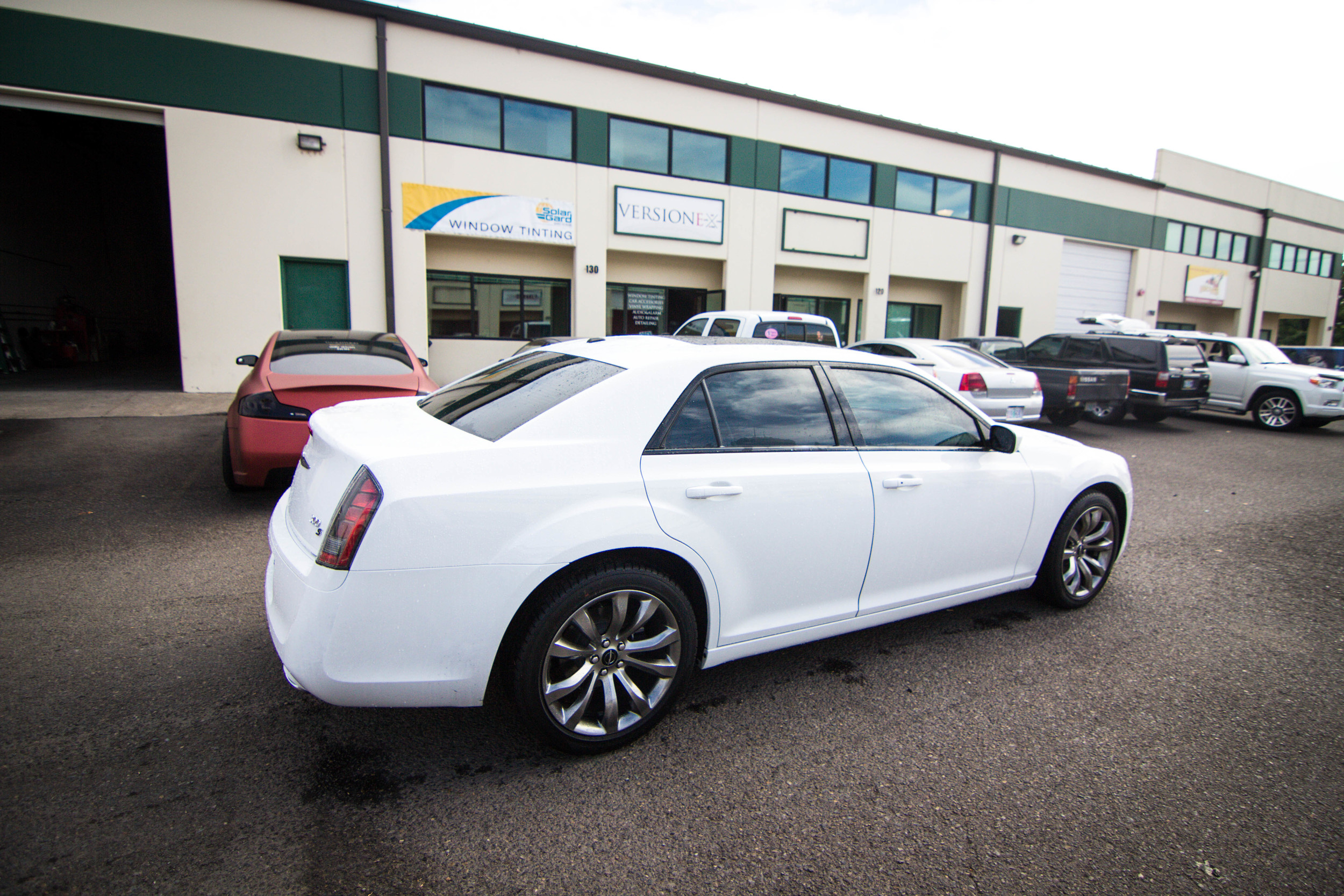 Brand new Chrysler 300 Solar Guarded up!  Window Tint: 40% FR // 30% RR