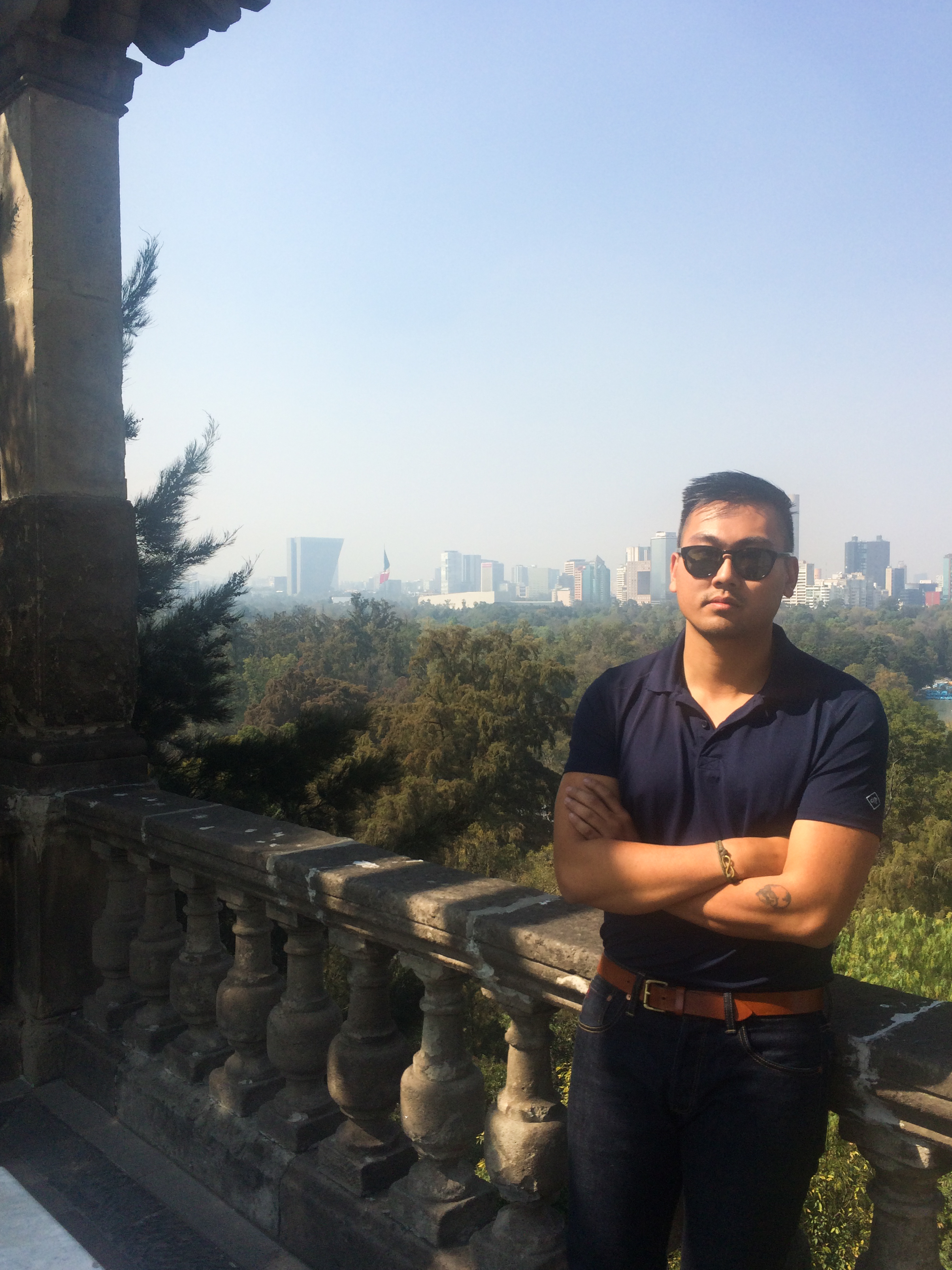 The view from Chapultepec Castle.