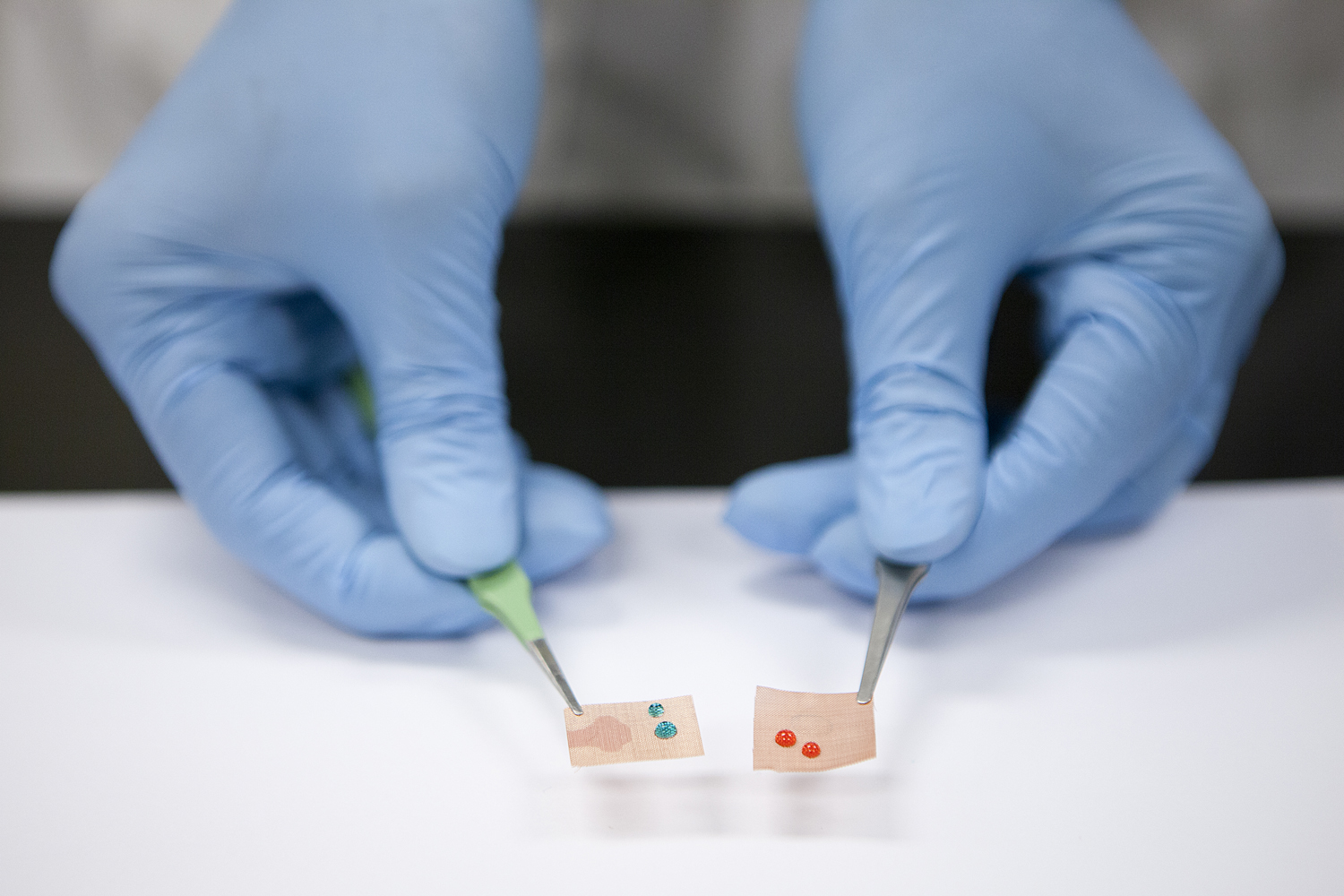 hydrophilic, oleophobic smart filter