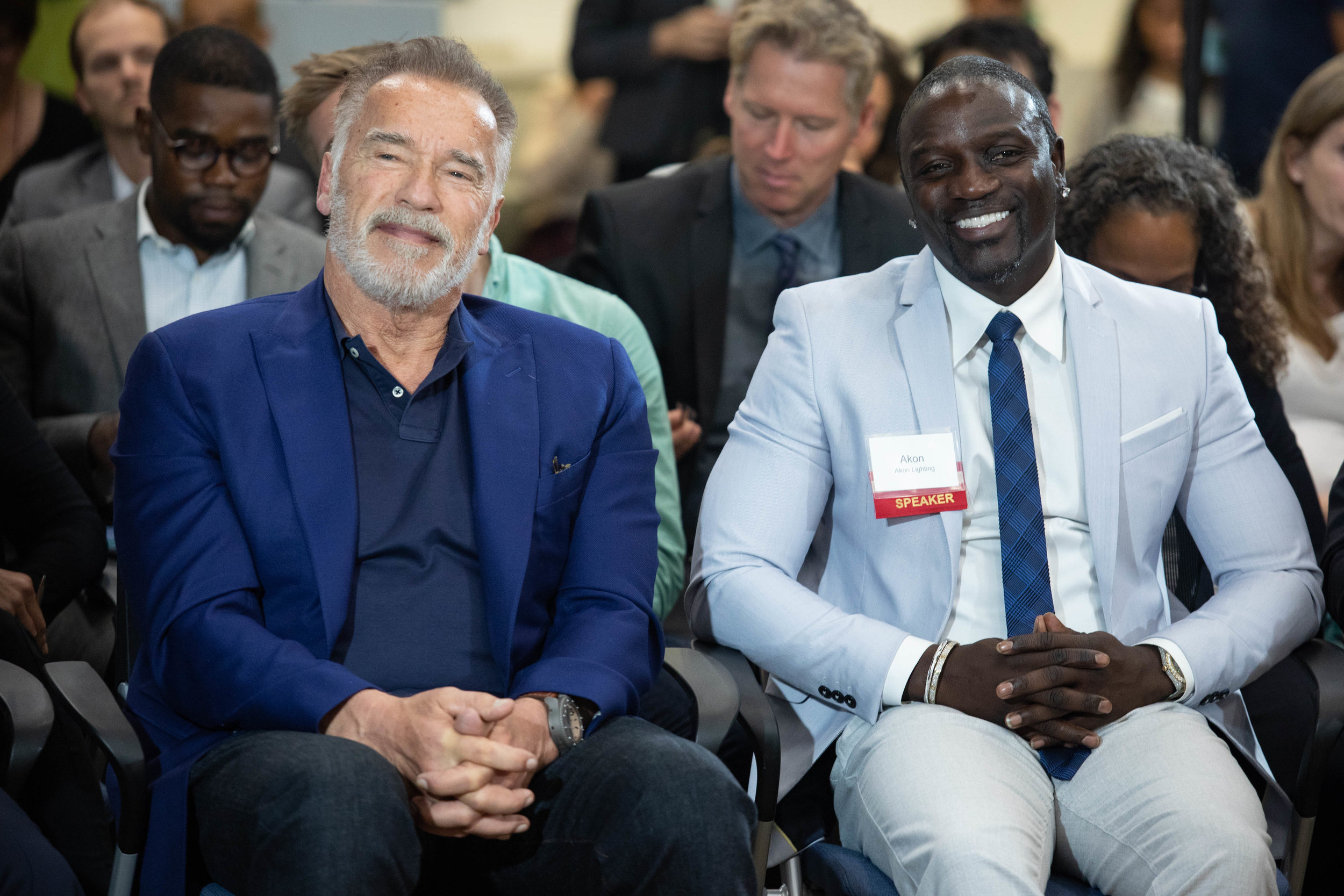 Former California Governor Arnold Schwarzenegger and Grammy-nominated musician Akon