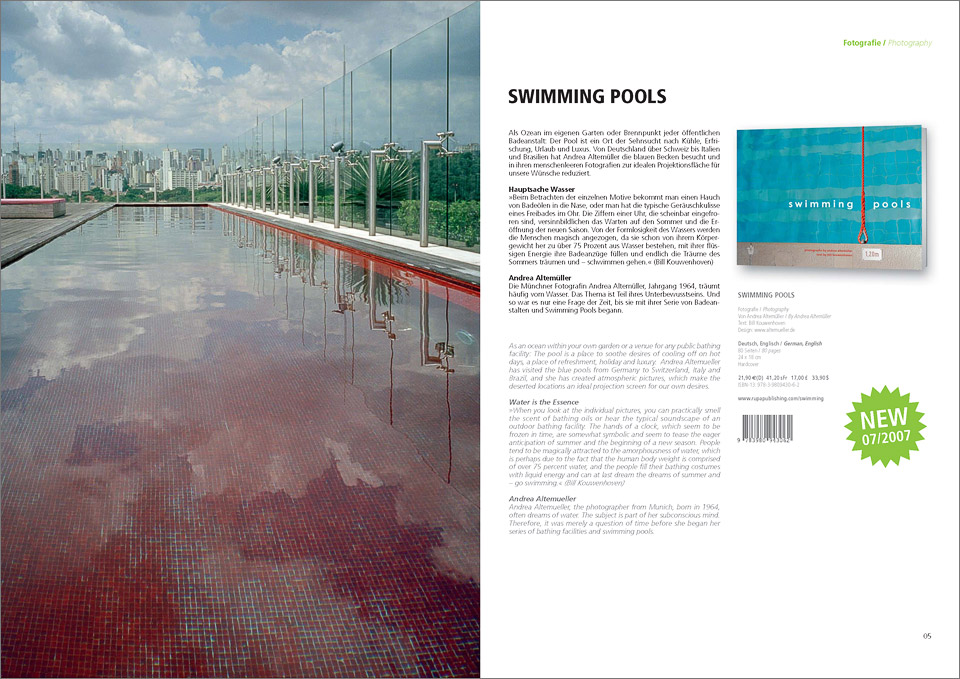 swimming pools     •    published at rupa publishing 2007