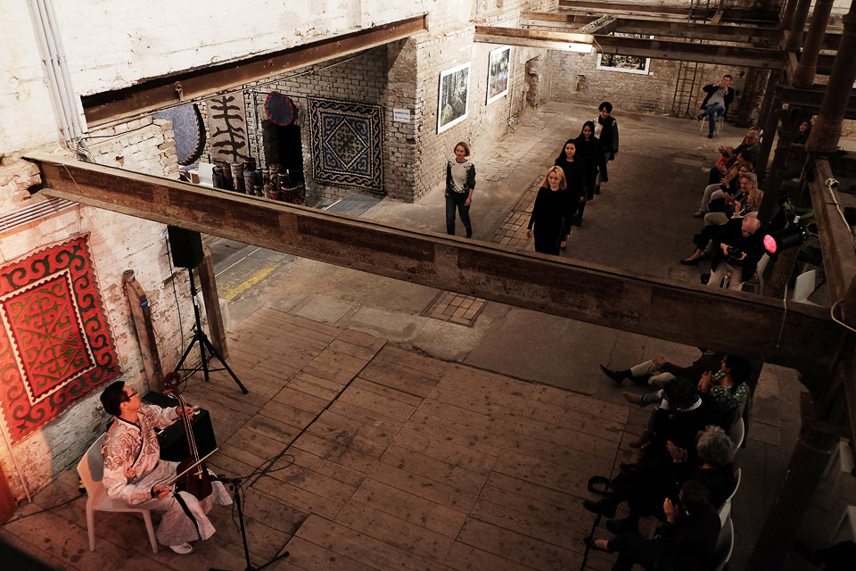 zacherlfabrik, vienna, austria  • fashion show with the cashmere sisters