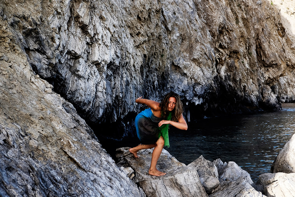 colombian dancer and choreographer at zakynthos, greece • lysabel urbano