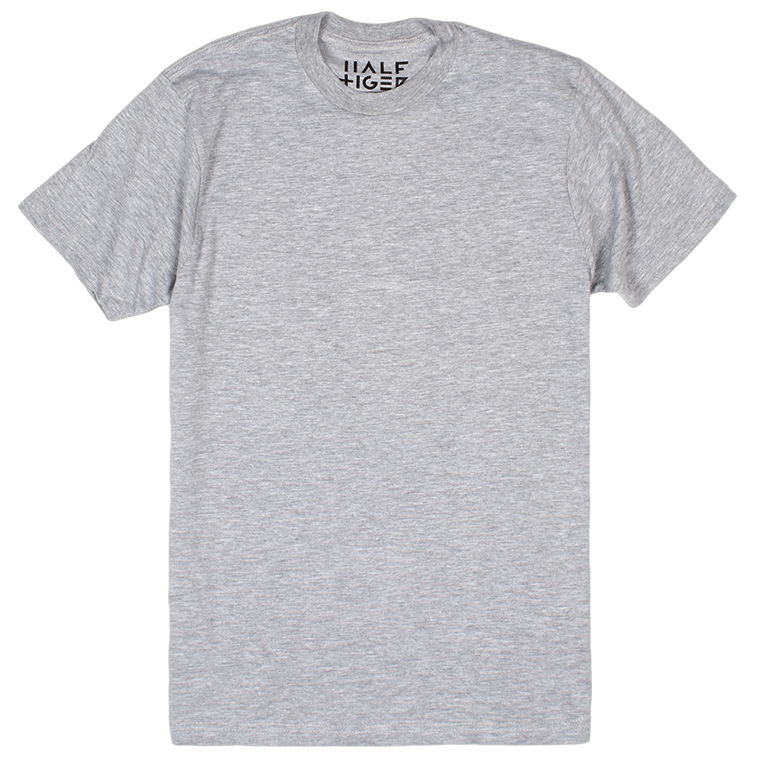 Half Tiger Track Tee  Get wild without apology. No matter how hard you go, this soft cotton blend refuses to sacrifice style.   Available in Heather Grey, Heather Onyx, Heather Lake Blue, and Heather Red.