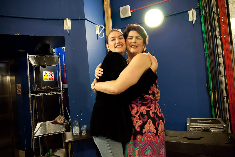 Southafrican soprano Erica Eloff and contralto Hilary Summers at the backstage