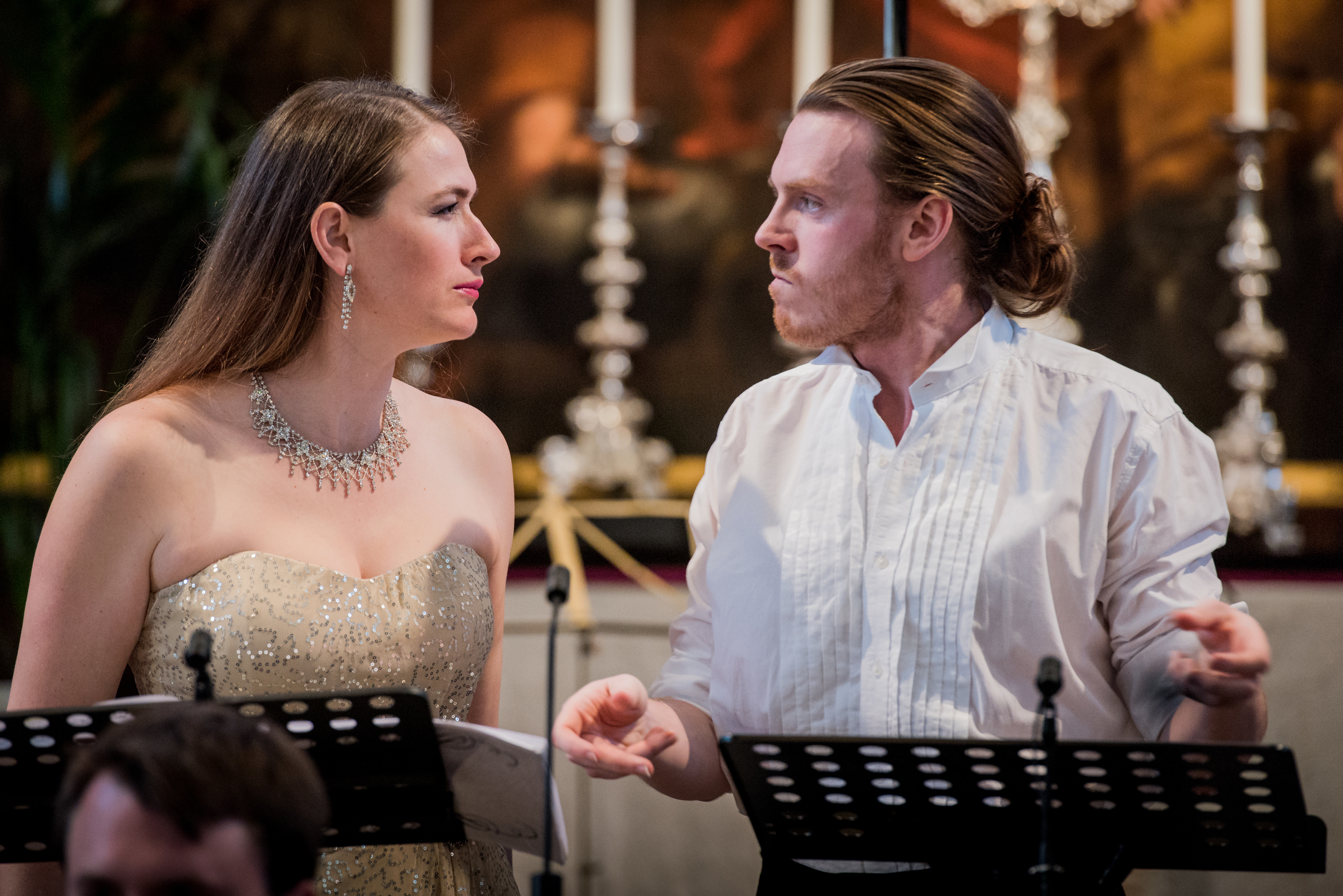 Charismatic... Rupert Charlesworth and Erica Eloff in Elpidia on Thursday. Photograph: Robert Workman