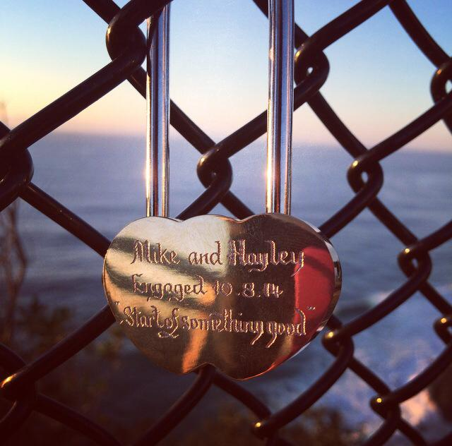 "Hayley writes: ""Thank you for the lovely surprise! This was used in my fiancés proposal in Byron Bay."""