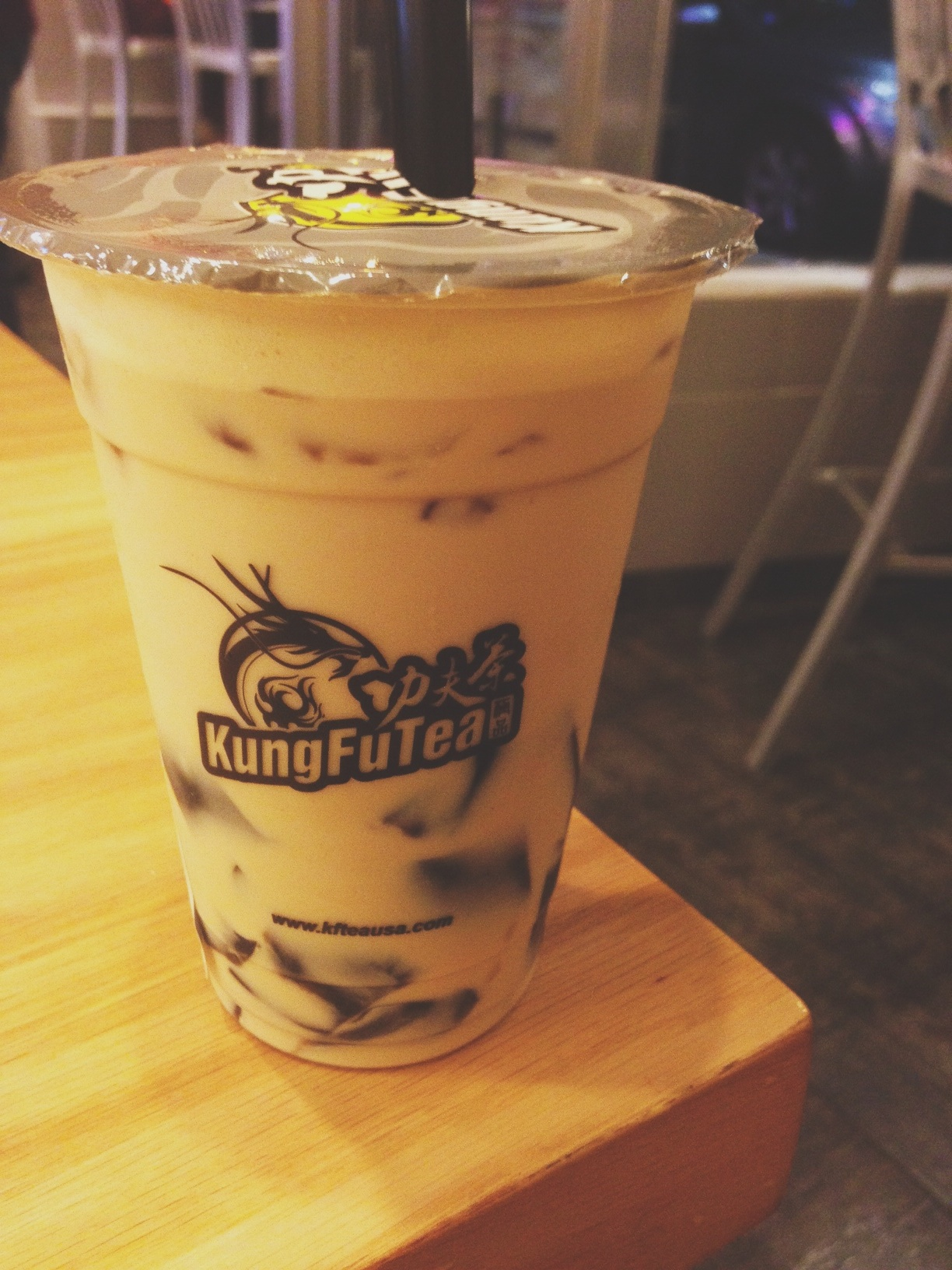 Was introduced to herbal jelly milk tea last weekend in Boston